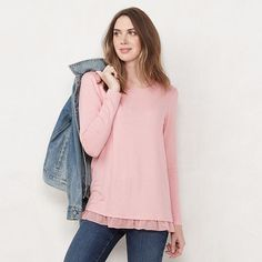 Fashionable Plus Size Clothing, Stitch Fix Stylist, Womens Size Chart, Lc Lauren Conrad, Pink Sweater, Plus Size Outfits, Cute Outfits, Tunic, Clothes For Women