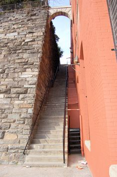 """The famous stone steps from the 1973 horror film """"The Exorcist""""are near the Georgetown campus"""