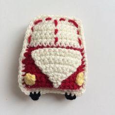 Bulli einfach häkeln mit kostenloser Anleitung - für Mobile, Kinderwagenkette, Schnullerkette etc.
