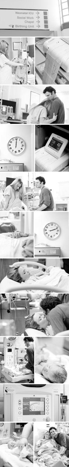 Hospital Birth Photo Shoot