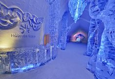 Hotel de Glace, made of entirely snow and ice- Quebec, Canada