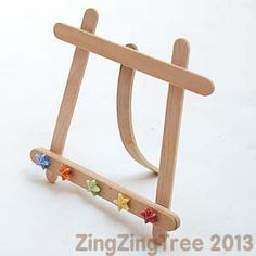 Easel from craft sticks - Full tutorial - ***Great way to display your small watercolors***