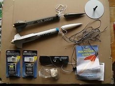 2 x Model Rockets with Parachutes,engines and ignition kit.