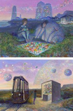イバラード(Iblard) ジブリ「星を買った日」、バロンの世界ともリンクする井上直久による幻想的な架空世界   BIRD YARD