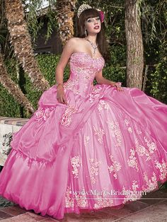 Discover the best and unique wedding Dresses from Mary's bridal collection. Choose your dream bridal wedding dresses from the wide variety of styles, fabrics, necklines, silhouettes and many more. Ball Gown Dresses, 15 Dresses, Unique Dresses, Pretty Dresses, Bridal Wedding Dresses, Bridesmaid Dresses, Mary's Bridal, Vestidos Color Rosa, Sweet Sixteen Dresses