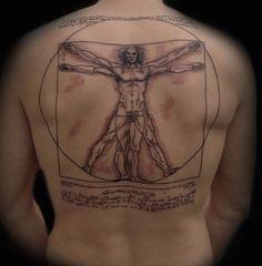Vitruvian Man by Syluss Sayin at Songbird Tattoo