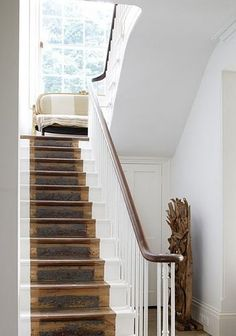 Modern staircase ideas - design and layout ideas to inspire your own staircase remodel, painted diy, decorating basement remodel pictures - staircase ideas Painted Staircases, Painted Stairs, Painted Floors, Modern Staircase, Staircase Design, Staircase Ideas, Staircase Runner, House Staircase, Staircase Makeover