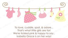 10  Twin Girls Baby Shower Invitations with Envelopes.  Free Return Address Labels. $8.99, via Etsy.