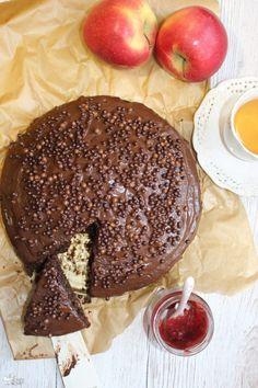 Murzynek z dżemem – ciasto mieszane łyżką | Słodkie okruszki