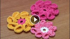 Crochet Flowers Design 8 Petals Crochet Flower Tutorial - This is an amazing crochet flower pattern! I love these flowers because they can give a warm and fuzzy feeling to any crochet project you'll make! Crochet Puff Flower, Crochet Butterfly, Crochet Flower Tutorial, Crochet Flower Patterns, Crochet Flowers, Crochet Lace, Crochet Star Stitch, Crochet Stars, Crochet Stitches