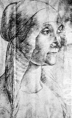 Domenico Ghirlandaio | Study of an elderly woman, 1486-90 | Collection of the Duke of Devonshire, Chatsworth I Via Flickr