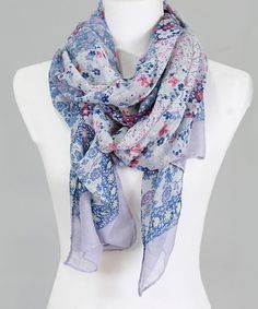 Take a look at this Blue & Red Floral Scarf today!