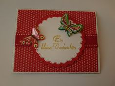 DIY Dankeskarte - Sommer - Schmetterling - Erdbeer