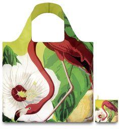 Loqi BO.FL Design-Einkaufstasche Botany, Flamingo