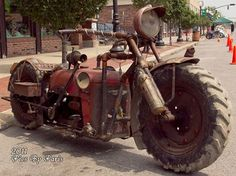 Steampunk Tendencies | Tractor Bike http://pinterest.com/aaphrodisia