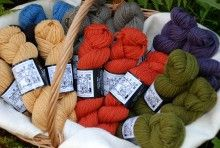 """Plimoth Plantation is pleased to introduce our exclusive line of 100% wool yarn. """"New Plimoth Worsted"""" is spun in the National Historic Landmark village of Harrisville, New Hampshire by Harrisville Designs. The color palette is designed by Plimoth Plantation matching colors produced using natural dyestuffs of the 17thc. Period colors names such as gray """"Rat's Colour"""" and yellow """"Maidenhair"""" describe each shade. packaged in 2 oz, 100 yd skeins."""