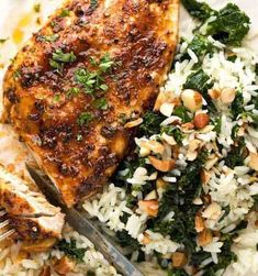 Chicken Breast Recipes For Dinner Stove Top.Spanish Chicken And Rice Best Arroz Con Pollo Lavender . Pancetta And Mushroom Stuffed Chicken Breast Recipe . Oven Baked Chicken, Baked Chicken Breast, Garlic Chicken, Chicken Tenders, Chicken Breasts, Baked Pork, Butter Chicken, Chicken Thighs, Garlic Kale