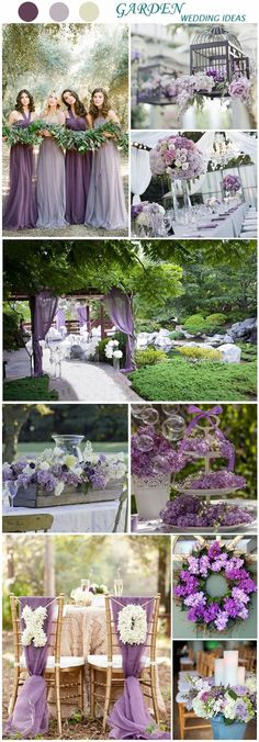Romantic Garden Weddings In Lavender and Lilac