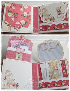 Prima Stationer's Desk 9 x 8 gate fold album with a multitude of pages in various sizes, lots of photo mounts, journaling cards, pockets and hidden nooks n crannies. Mini Albums Scrap, Mini Scrapbook Albums, Scrapbook Cards, Diy Mini Album Tutorial, Memory Album, Memory Books, Baby Mini Album, Journal Cards, Junk Journal