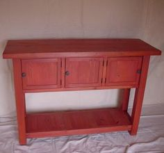 Pine Side Table - I love this site for furniture ideas.