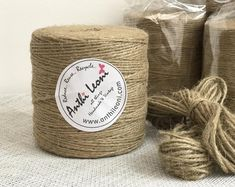 Honest 1 Rolls 10m Vintage Natural Brown Hemp Rope Diy Tag Label Hang Rope Wedding Home Accessories Decorative Twine Jute String Garden Cords Apparel Sewing & Fabric