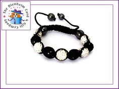 Adult Shamballa bracelets featuring 10mm Czech crystals.   Each bracelet has 9 clay crystal balls & 2 polished hematite balls, on a black thread.  Handcrafted adjustable macrame knotting which will fit the majority of wrist sizes.  £7.50 plus postage.
