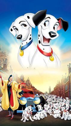 101 DALMATIANS, 1961 Dalmatians are lively, smart, and want to please you. Disney Films, Disney Villains, Disney Cartoons, Disney Png, Arte Disney, Disney Images, Disney Pictures, Disney Phone Wallpaper, Cartoon Wallpaper
