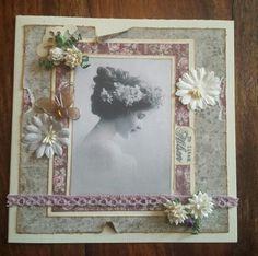 Vintage card flowers