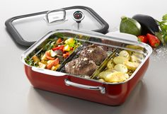 Ecompact Energy Red - Ekskluzywne AGD - www. Beef, Food, Kitchen Fixtures, Leafy Salad, Green Smoothies, Cooking Vegetables, Kitchen Inspiration, New Kitchen, Meat