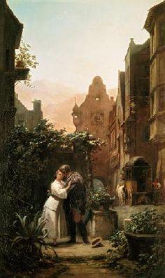 Carl Spitzweg - Carl Spitzweg / Farewell / c.1855