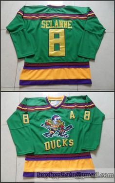 NHL Mighty Ducks  8 Teemu Selanne Greem CCM Vintage Throwback Anaheim Green  Jersey 7a684124a