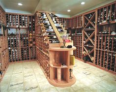 Custom Wine Cellar LEGAL NOTICE: Please note this image may be copyrighted and any redistribution outside Pinterest may result in legal action. This is NOT a Parrish Construction project. This pin/re-pin is intended ONLY to serve as design inspiration for friends of Parrish.