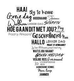 is a beautiful language. Do you agree? Lekker Dag, African Map, Afrikaanse Quotes, My Land, Africa Travel, Inspirational Thoughts, Word Art, Wise Words, South Africa