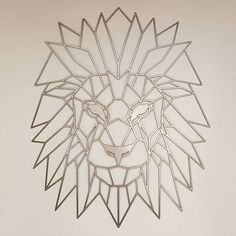 Geometric Lion Metal Art