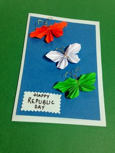 Crafty idea for republic day greeting card Independence Day Card, Independence Day Decoration, Independence Day Wallpaper, Dyi Crafts, Preschool Crafts, Posters Diy, Recipe Card Holders, Art For Kids, Crafts For Kids
