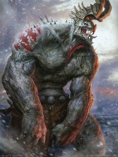 Applibot's Legend of the Cryptids Evil Beast digital fantasy painting by concept artist Maxim Verehin of Volgograd, Volgogradskaya Oblast', Russia!!!http://m-verehin.cghub.com/images/