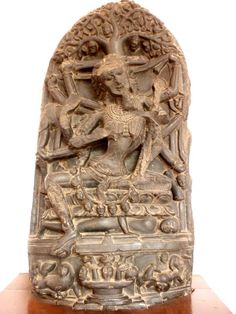 Chamunda, pala sculpture from eastern India