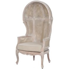 White Wash Rattan Balloon Chair ($1,695) ❤ liked on Polyvore featuring home, furniture, chairs, accent chairs, white washed furniture, victorian style chair, woven chair, whitewash furniture and weave chair