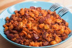 Migas with variations Spanish Kitchen, Spanish Food, Spanish Recipes, New Recipes, Dog Food Recipes, Migas Recipe, New Cooking, Morning Food, Chorizo