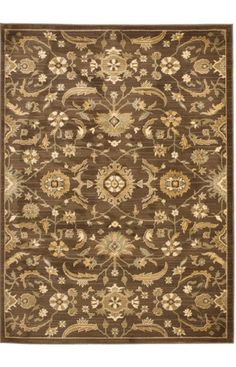 $5 Off when you share! Safavieh Heirloom HLM1671 Brown Rug | Traditional Rugs #RugsUSA