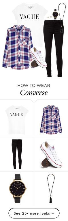 """Tomorrow's OOTD"" by robramey17 on Polyvore featuring Rails, J Brand, Converse, Kate Spade, Olivia Burton, Monsoon and rob_schoolstyle"