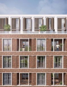 Architektur (notitle) The post appeared first on Architektur. System Architecture, Brick Architecture, Residential Architecture, Brick Masonry, Brick Facade, Mix Use Building, Building Design, Brick Construction, Brick In The Wall