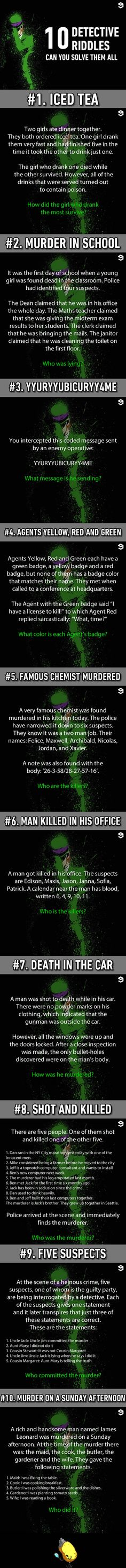 16 Murder Riddles That Would Bring Out The Sherlock In You