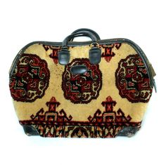 Vintage MARK CROSS Black Leather Travel Weekend Bag. $298.95, via Etsy.