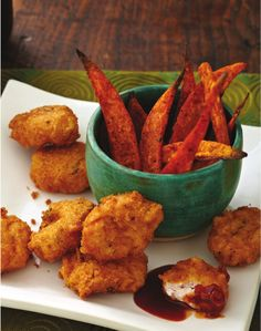 Chicken Nuggets and Sweet Potato Fries from Allergy-Free and Easy Cooking by Cybele Pascal