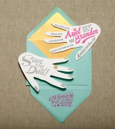 love this idea for Save the Date..