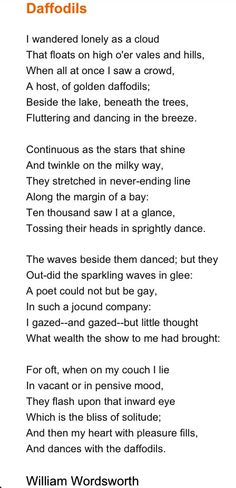 A favourite poem we are memorising #wordsworth #poetry #poem