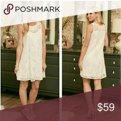 🌌HP!🌌 Holiday Lace Dress Modeling size Small  Color: White lace nude lining. Brand new. roryry Dresses