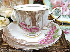 Royal Albert Trees Flowered Pattern Tea Cup and Saucer