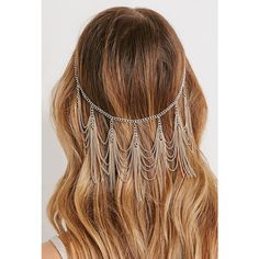 Forever 21 Chain Fringe Head Piece ($6.90) ❤ liked on Polyvore featuring beauty products, haircare, hair styling tools, hair, hairstyles and forever 21
